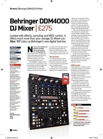 Future Music Behringer DDM4000 DJ Mixer