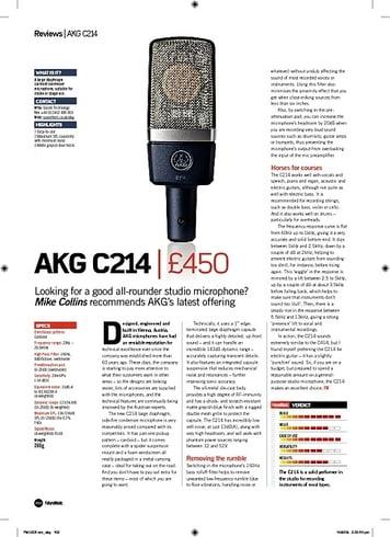 Future Music AKG C214