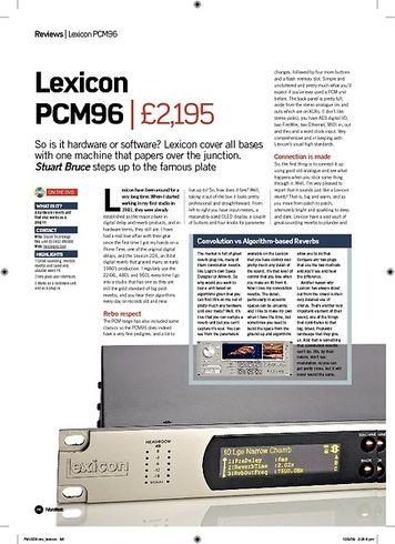 Future Music Lexicon PCM96