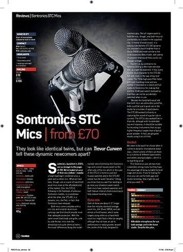 Future Music Sontronics STC Mics