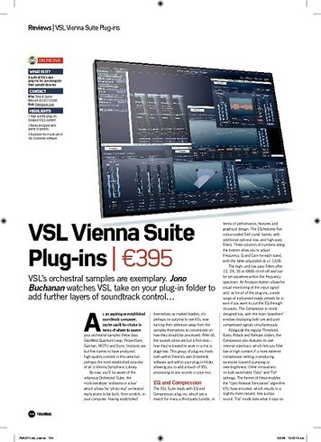 Future Music VSL Vienna Suite Plugins