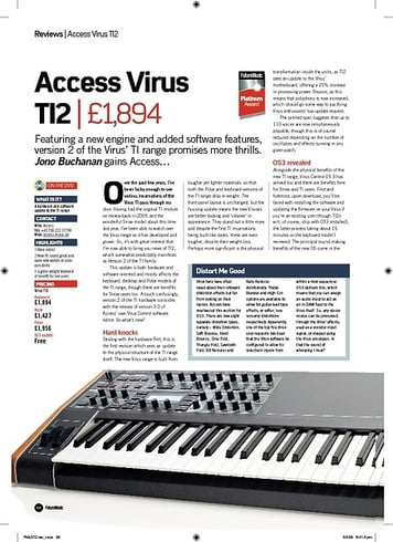 Future Music Access Virus TI2