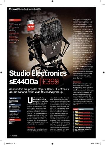 Future Music Studio Electronics sE4400a