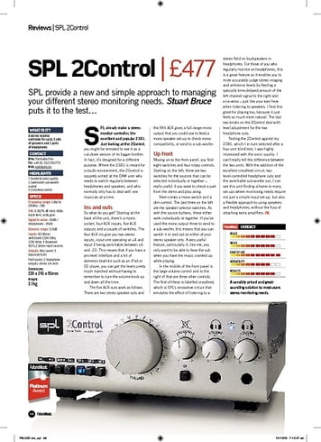 Future Music SPL 2Control