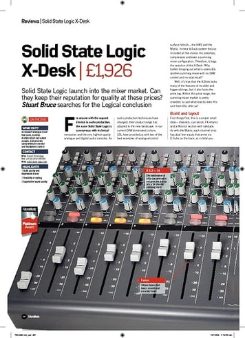 Future Music Solid State Logic XDesk