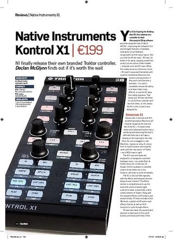 Future Music Native Instruments Kontrol X1