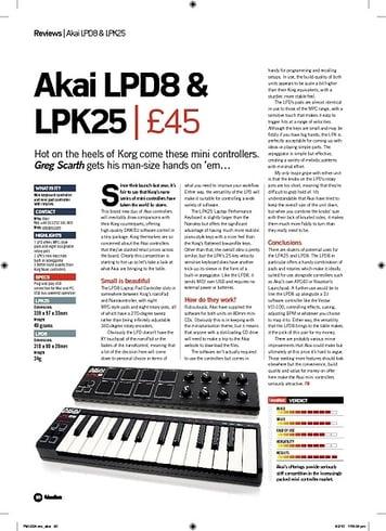 Future Music Akai LPK25