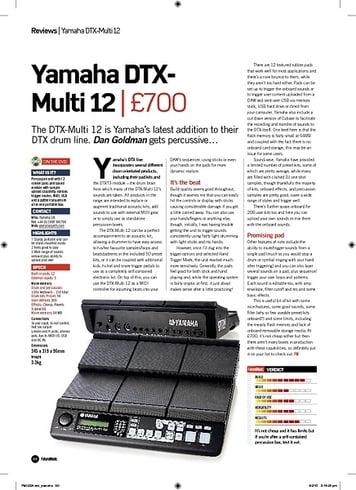 Future Music Yamaha DTXMulti 12