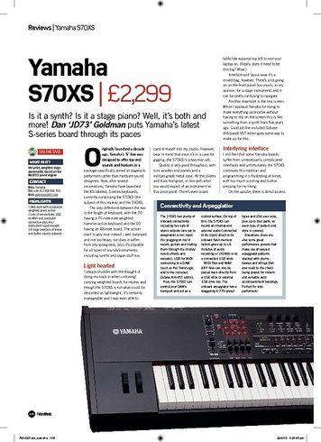 Future Music Yamaha S70XS