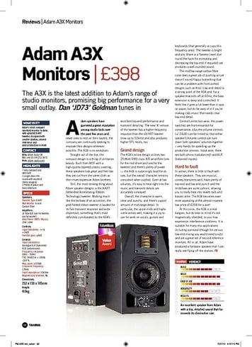 Future Music Adam A3X Monitors