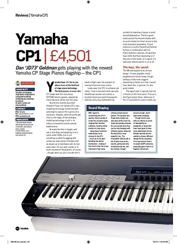 Future Music Yamaha CP1