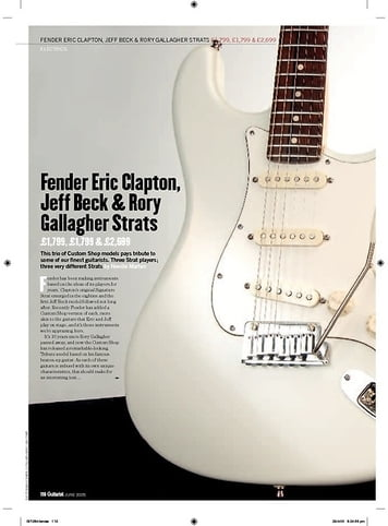 Guitarist Jeff Beck Signature Strat