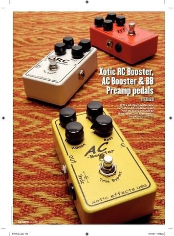 Guitarist Xotic BB Preamp pedals