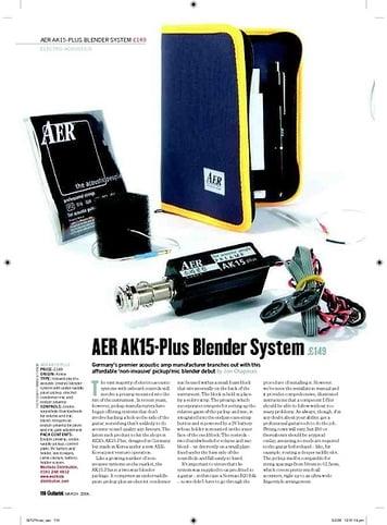 Guitarist AER AK15Plus Blender System