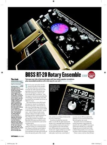 Guitarist Boss RT20 Rotary Ensemble
