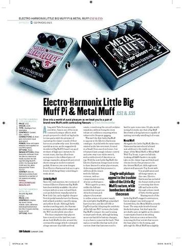 Guitarist ElectroHarmonix Metal Muff