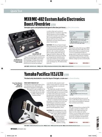 Guitarist MXR MC402 Custom Audio Electronics Boost/Overdrive