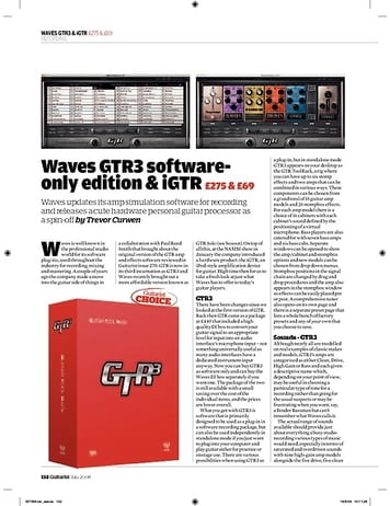Guitarist Waves GTR3 Software Edition