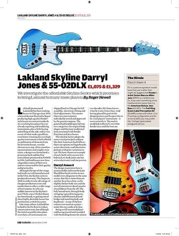 Guitarist Lakland Skyline Darryl Jones