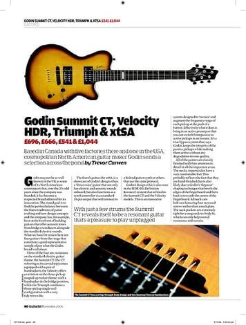Guitarist Godin xtSA