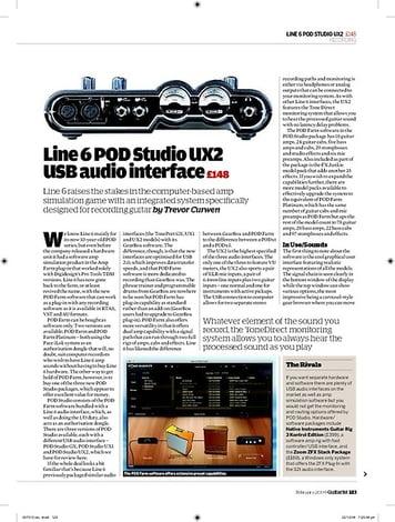 Guitarist Line 6 POD Studio UX2