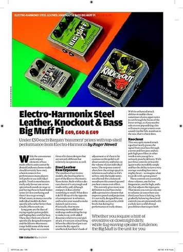 Guitarist ElectroHarmonix Steel Leather