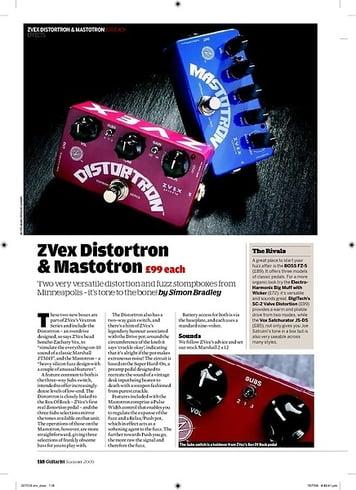 Guitarist ZVex Distortron