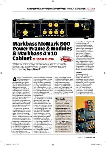 Guitarist Markbass MoMark