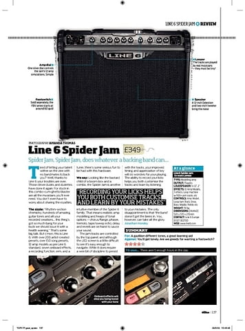 Total Guitar Line 6 Spider Jam