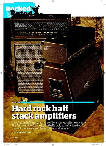 Total Guitar Hard rock half stack amplifiers