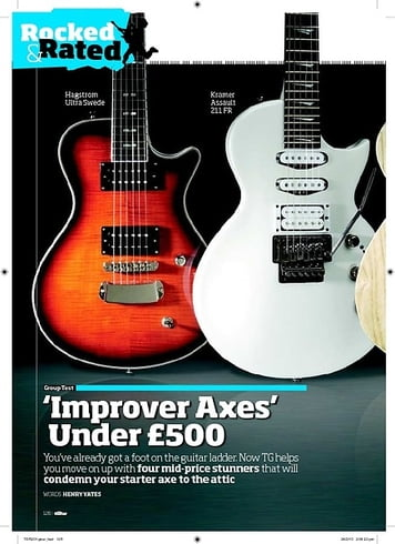 Total Guitar Improver Axes' Under £500