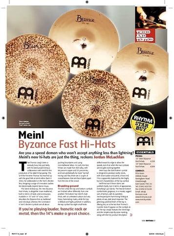 Rhythm Meinl Byzance Fast HiHats