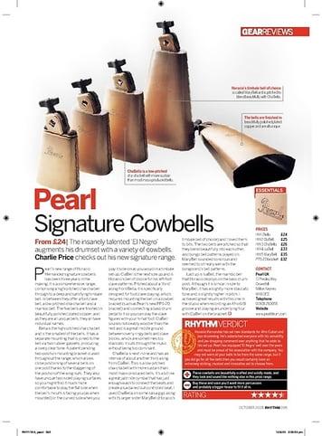 Rhythm Pearl Signature Cowbells