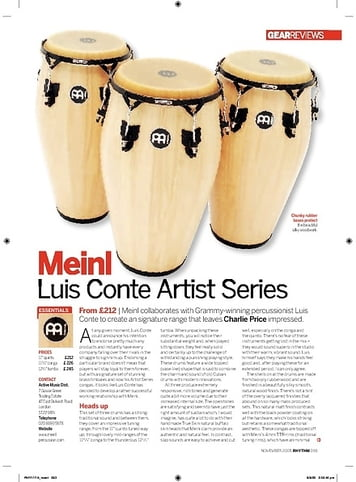 Rhythm Meinl Luis Conte Artist Series