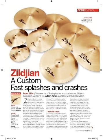 Rhythm Zildjian A Custom  Fast splashes and crashes