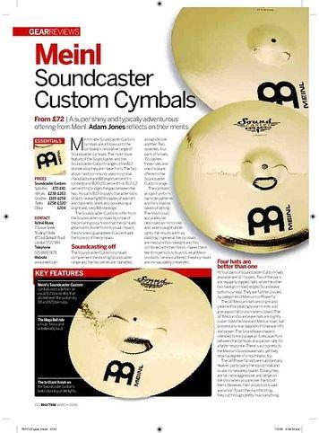 Rhythm Meinl Soundcaster Custom Cymbals