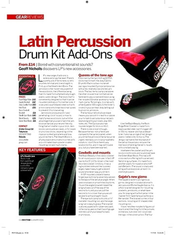 Rhythm Latin Percussion Drum Kit AddOns