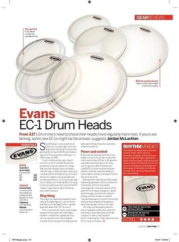 Rhythm Evans EC1 Drum Heads