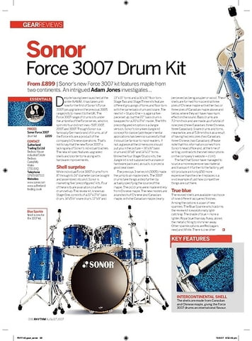 Rhythm Sonor Force 3007 Drum Kit
