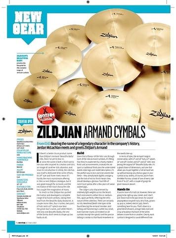 Rhythm Zildjian Armand Cymbals