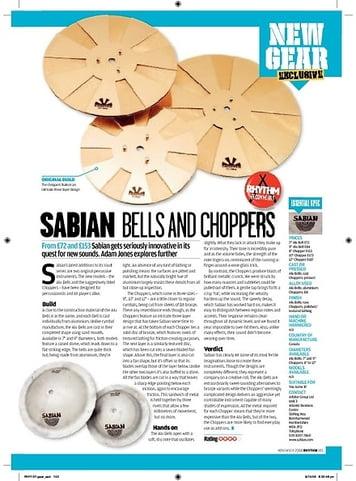 Rhythm Sabian Bells and Choppers