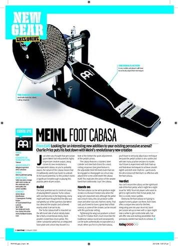 Rhythm Meinl Foot Cabasa