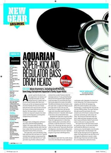 Rhythm Aquarian SUPERKICK AND REGULATOR BASS  DRUM HEADS