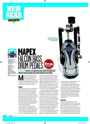 Rhythm MAPEX FALCON BASS DRUM PEDALS