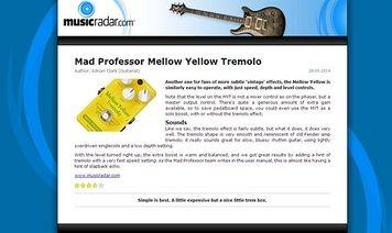 MusicRadar.com Mad Professor Mellow Yellow Tremolo