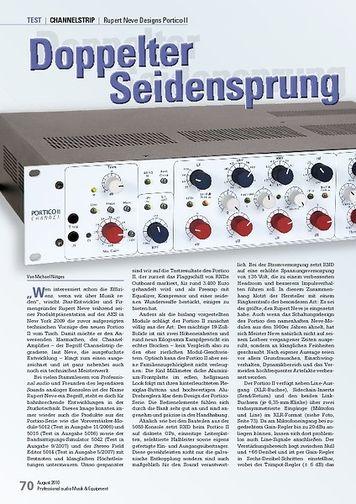 Professional Audio Doppelter Seidensprung Rupert Neve Designs Portico II