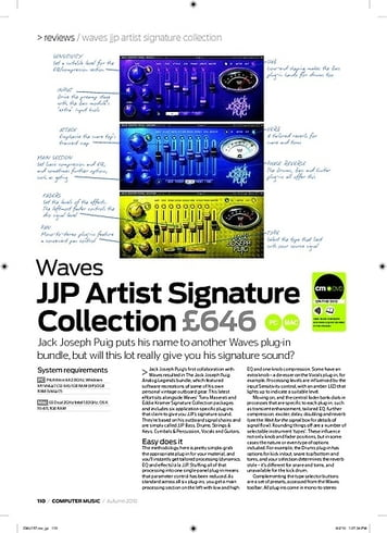 Computer Music Waves JJP Artist Signature Collection