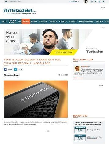 Amazona.de HK-AUDIO ELEMENTS EA600, E435 TOP, E1110 SUB
