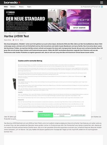 Bonedo.de Hartke LH500
