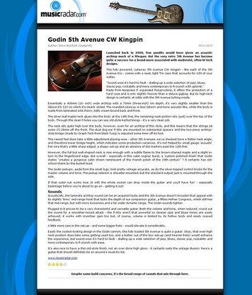 MusicRadar.com Godin 5th Avenue CW Kingpin